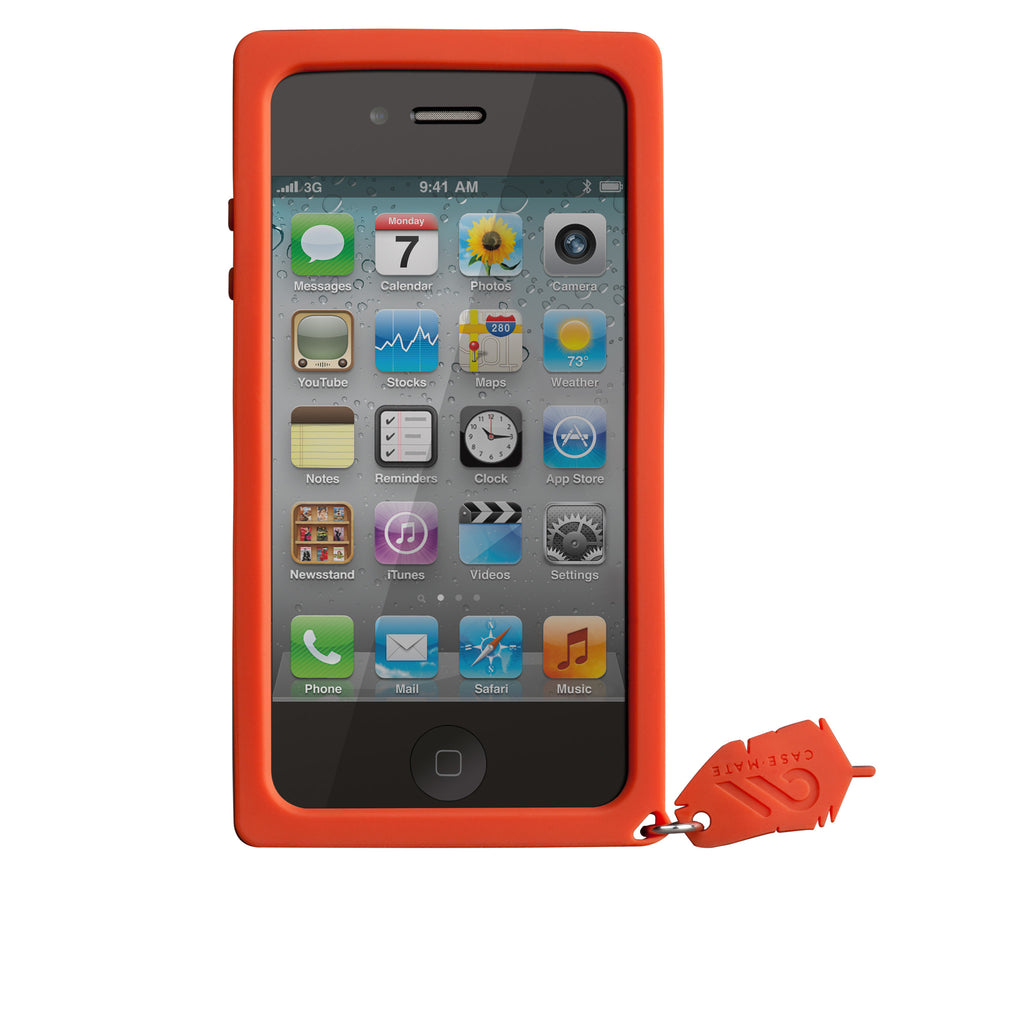 iPhone 4/4s Red Parrot Creatures Case - image angle 6