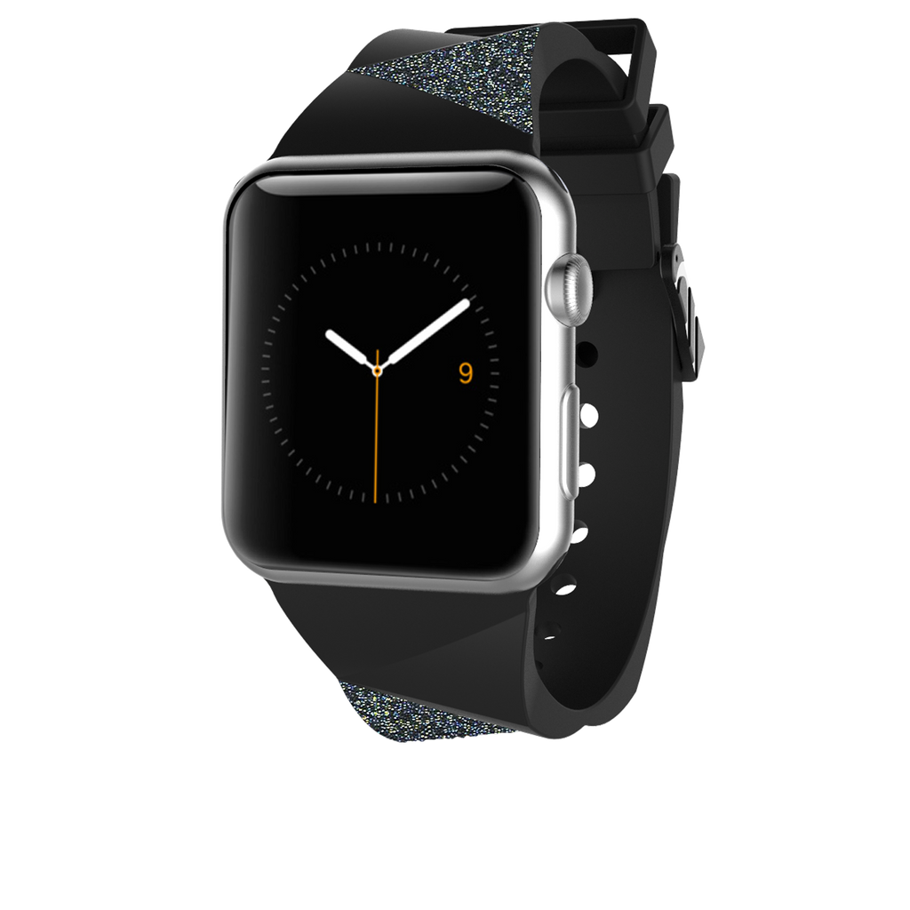 Apple Watch 38mm Black Facets Band - image angle 2