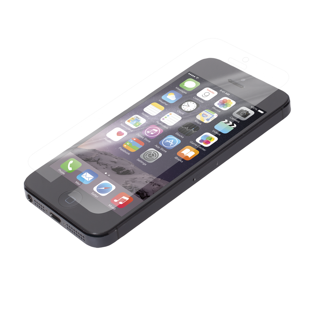 iPhone SE Clear Glass Screen Protector Case - image angle 1