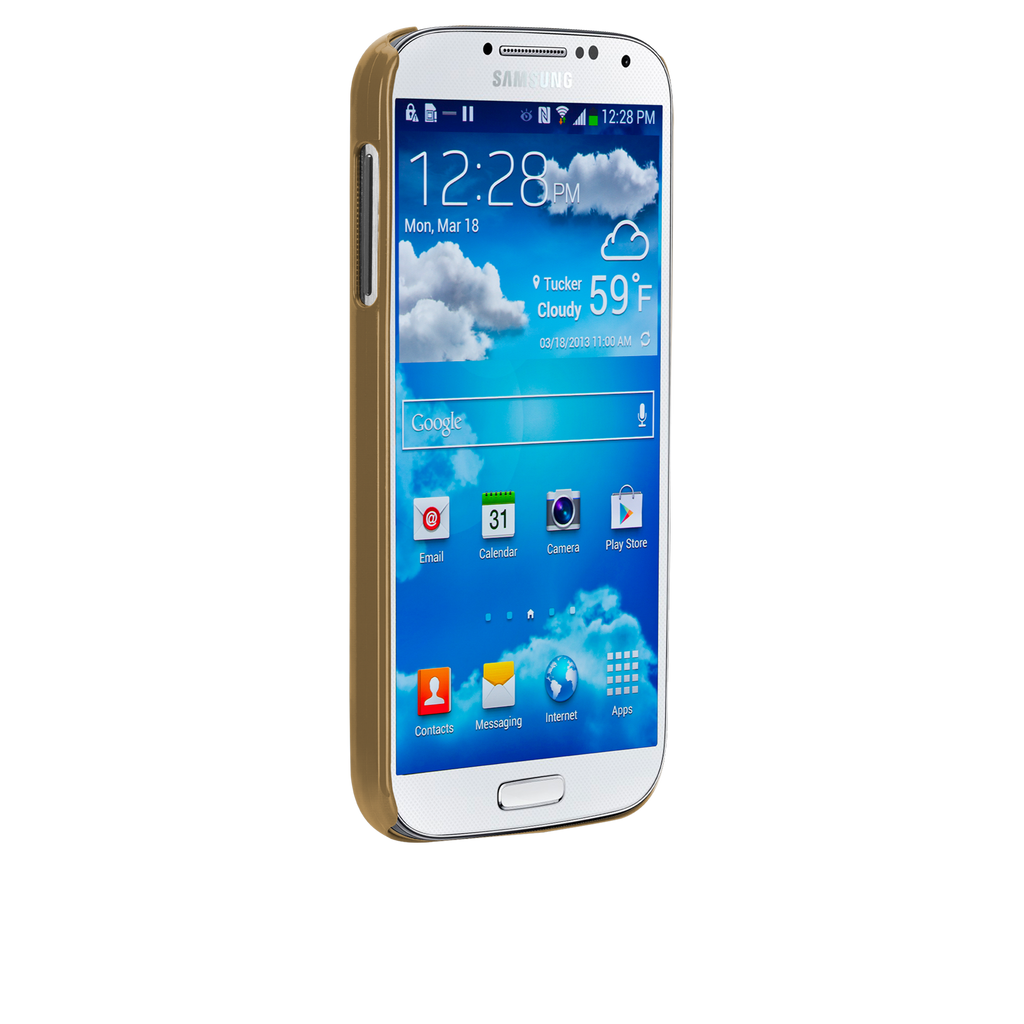 Samsung GALAXY S4 Gold Glimmer Case - image angle _2