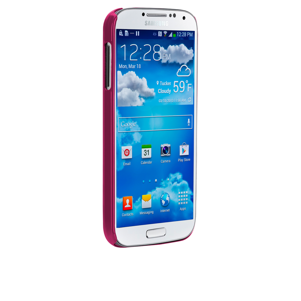 Samsung GALAXY S4 Pink Glimmer Case - image angle _2