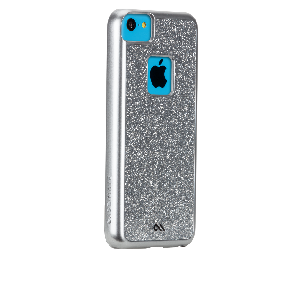 iPhone 5c Silver Glimmer Case - image angle 1