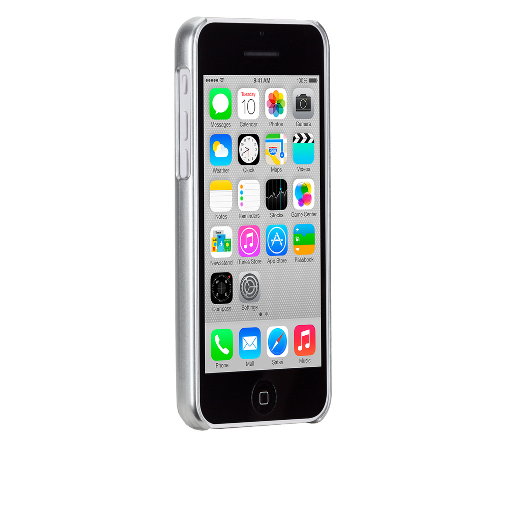 iPhone 5c Silver Glimmer Case - image angle 2