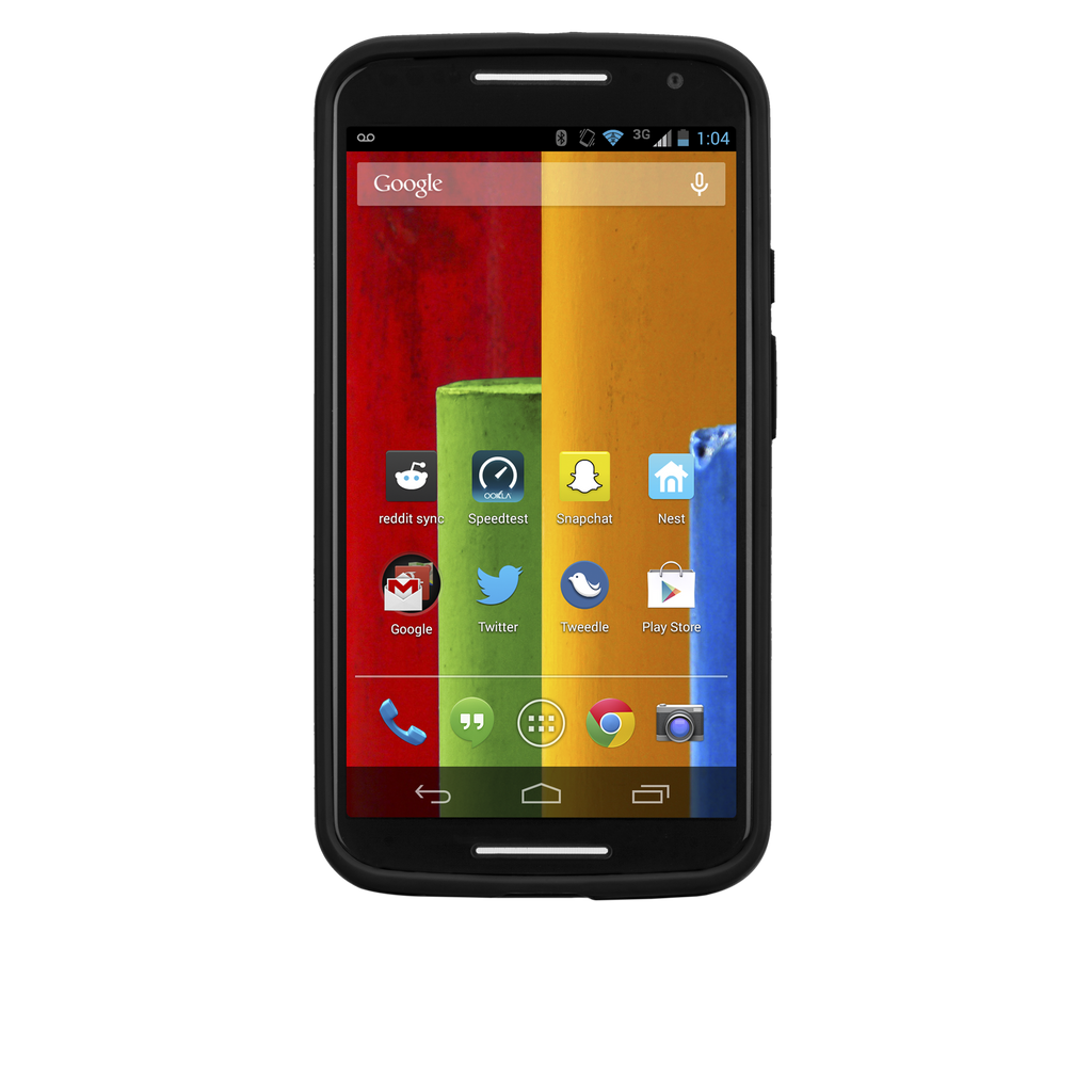Moto X (2nd Gen.) Black & Charcoal Tough Frame Case - image angle 6