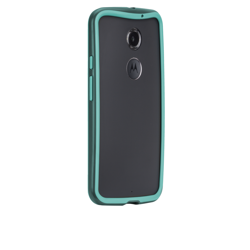 Moto X (2nd Gen.) Dark Teal & Turquoise Tough Frame Case - image angle 1