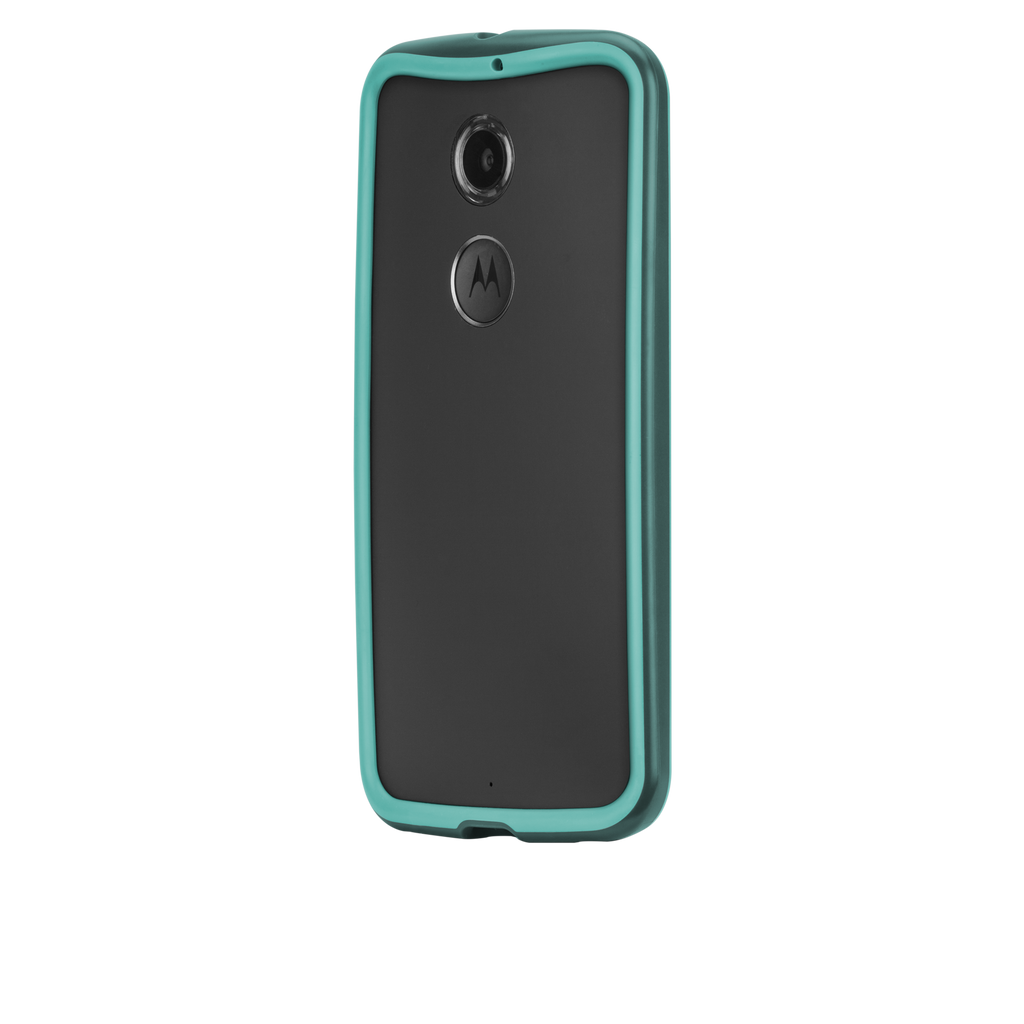 Moto X (2nd Gen.) Dark Teal & Turquoise Tough Frame Case - image angle 3