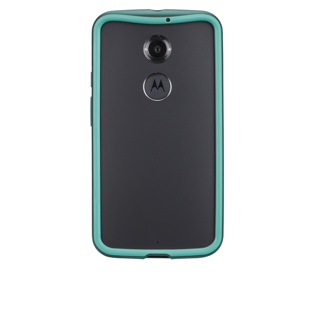 Moto X (2nd Gen.) Dark Teal & Turquoise Tough Frame Case - image angle 7