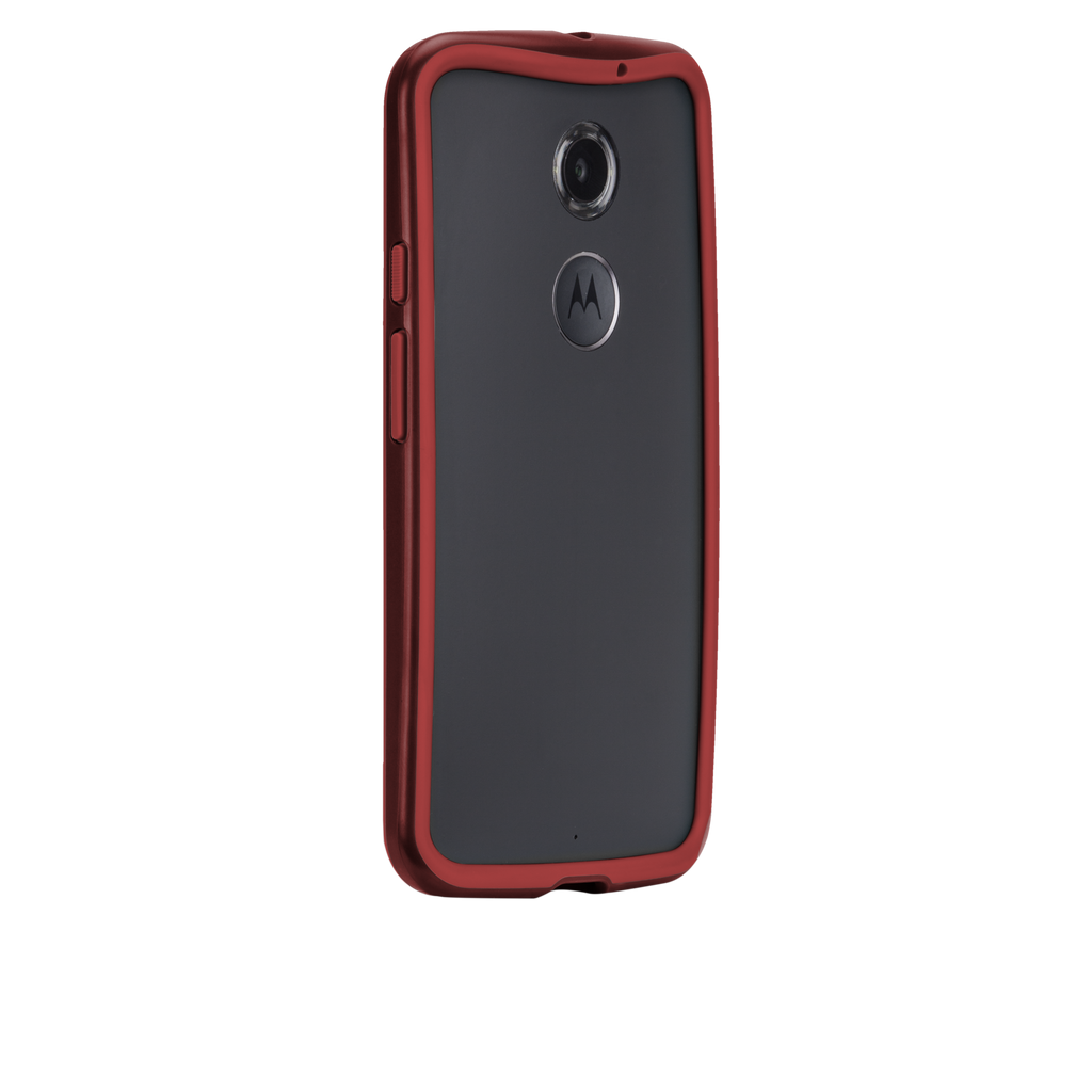 Moto X (2nd Gen.) Crimson & Red Tough Frame Case - image angle 1