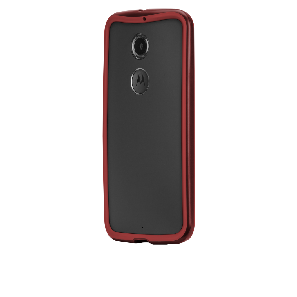 Moto X (2nd Gen.) Crimson & Red Tough Frame Case - image angle 3