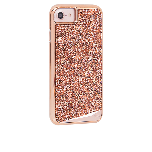Rose Gold Brilliance iPhone 7 Plus Case Back Right Angle