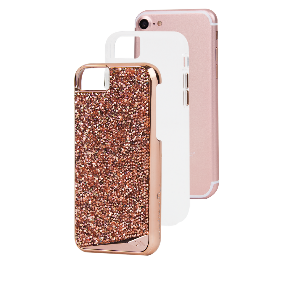 Rose Gold Brilliance iPhone 7 Case Layers