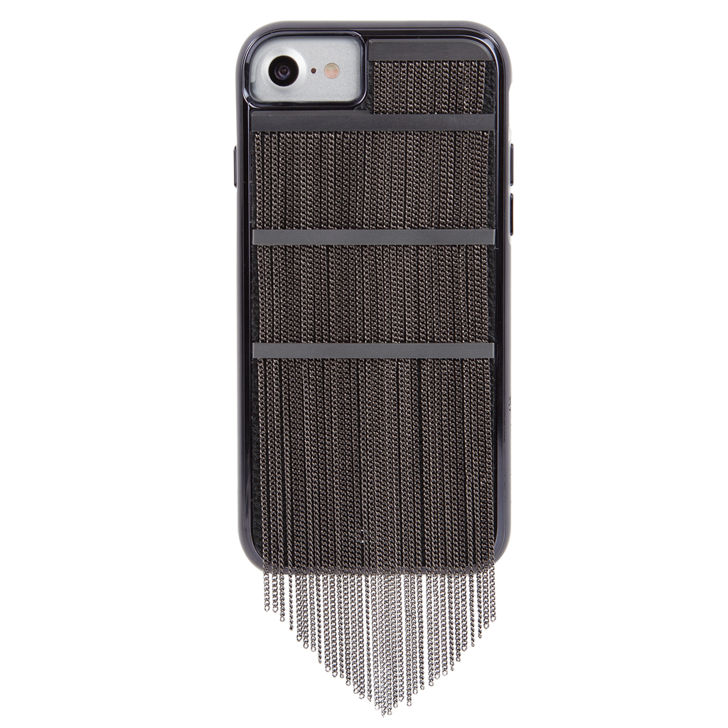 Black Fringed Metal iPhone 7 Case Back