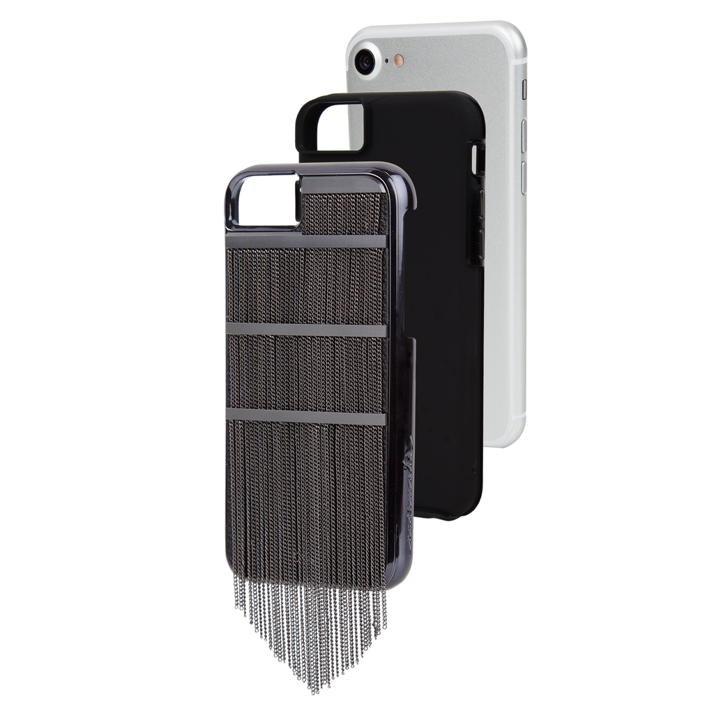 Black Fringed Metal iPhone 7 Case Layers