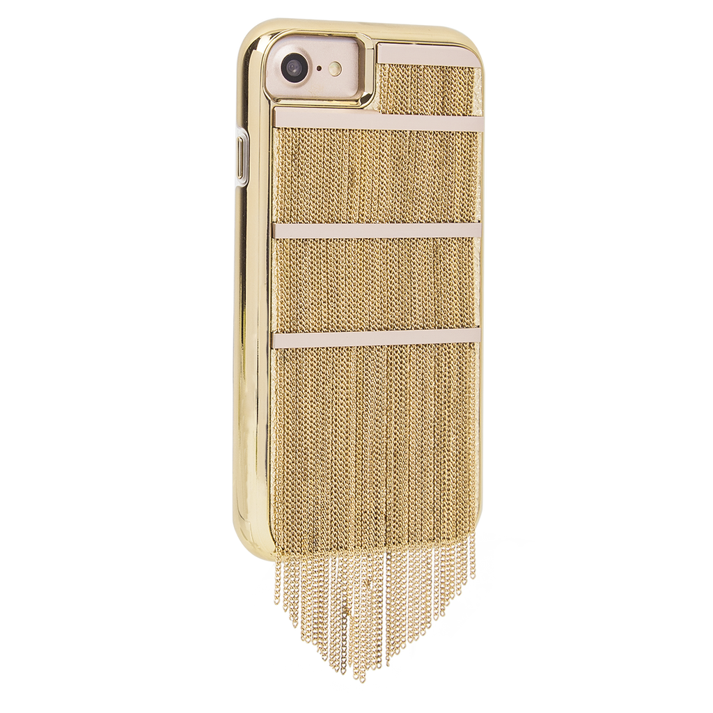 Gold Fringed Metal iPhone 7 Case Back Right Angle