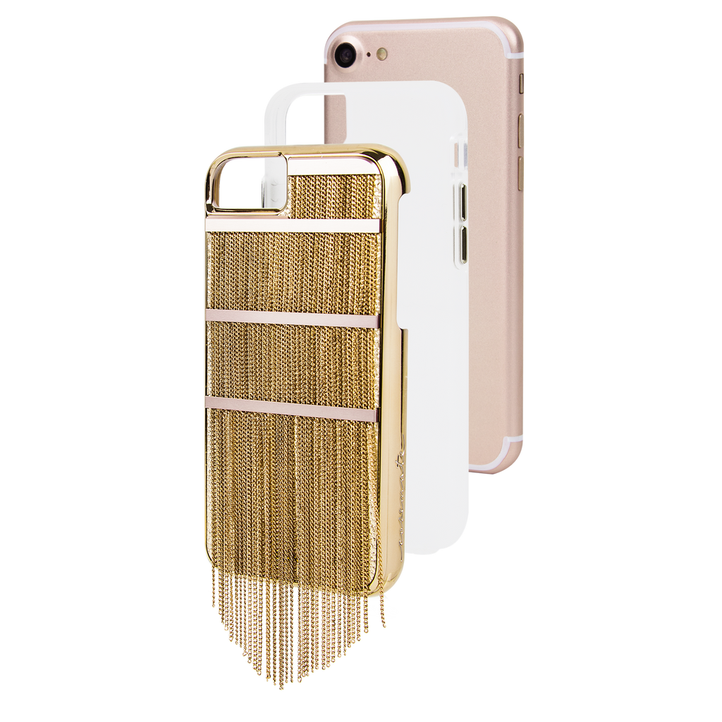 Gold Fringed Metal iPhone 7 Case Layers