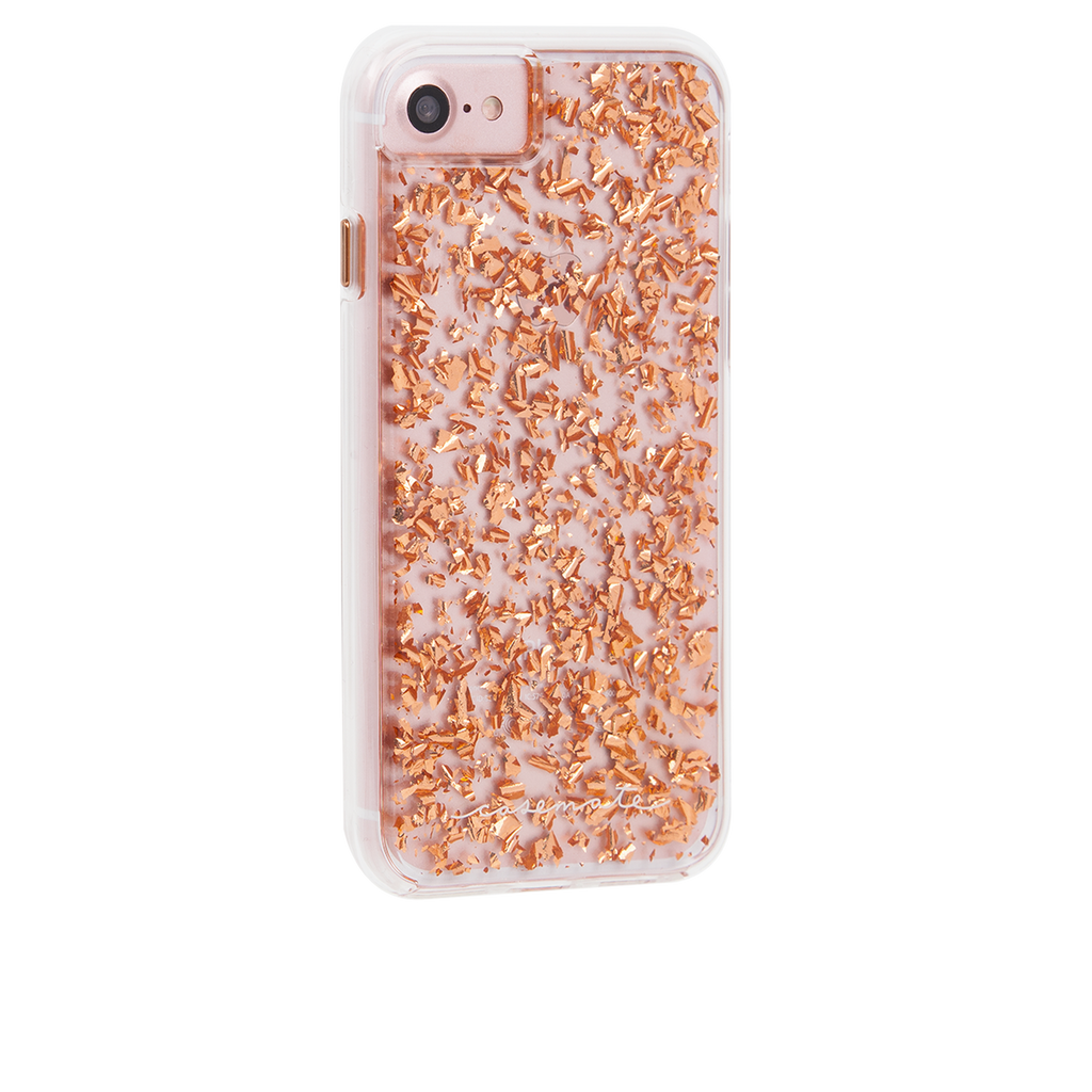 Rose Gold Karat iPhone 7 Case Back Right Angle