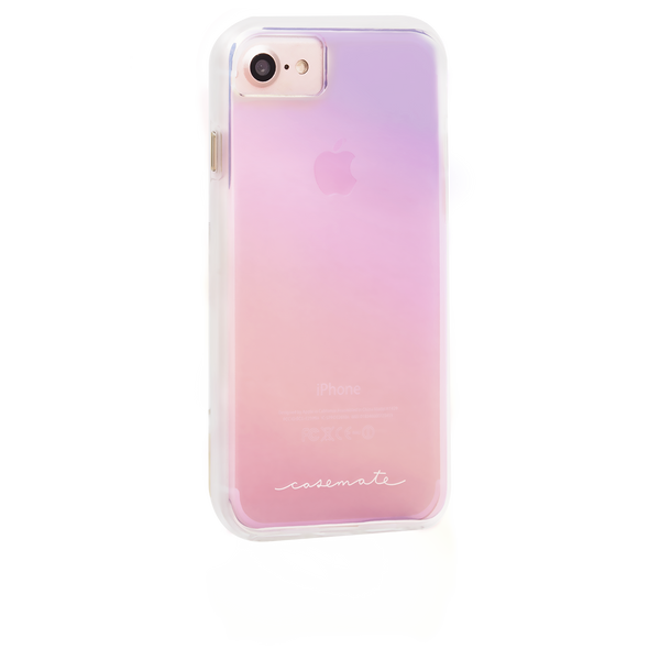 Naked Tough Iridescent iPhone 7 Case Back Right Angle