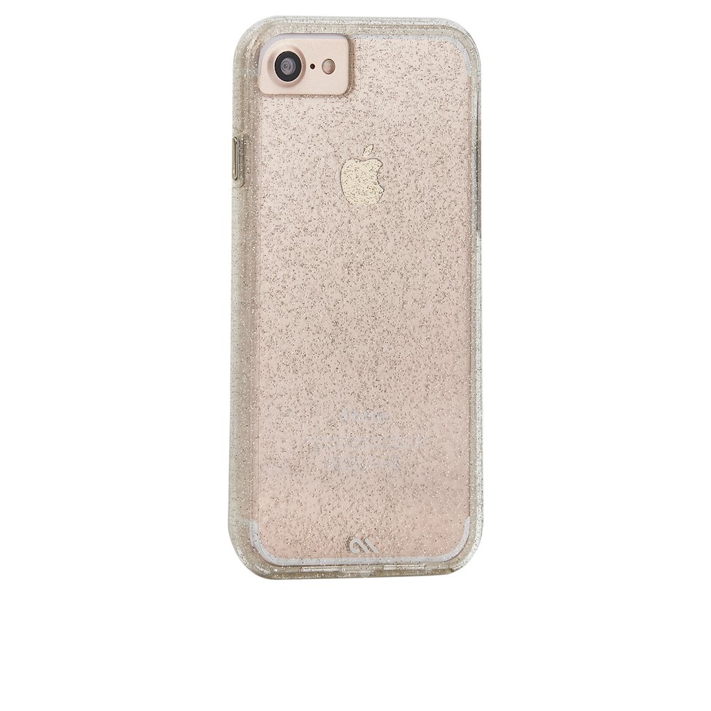 Sheer Glam iPhone 7 Case Back Right Angle
