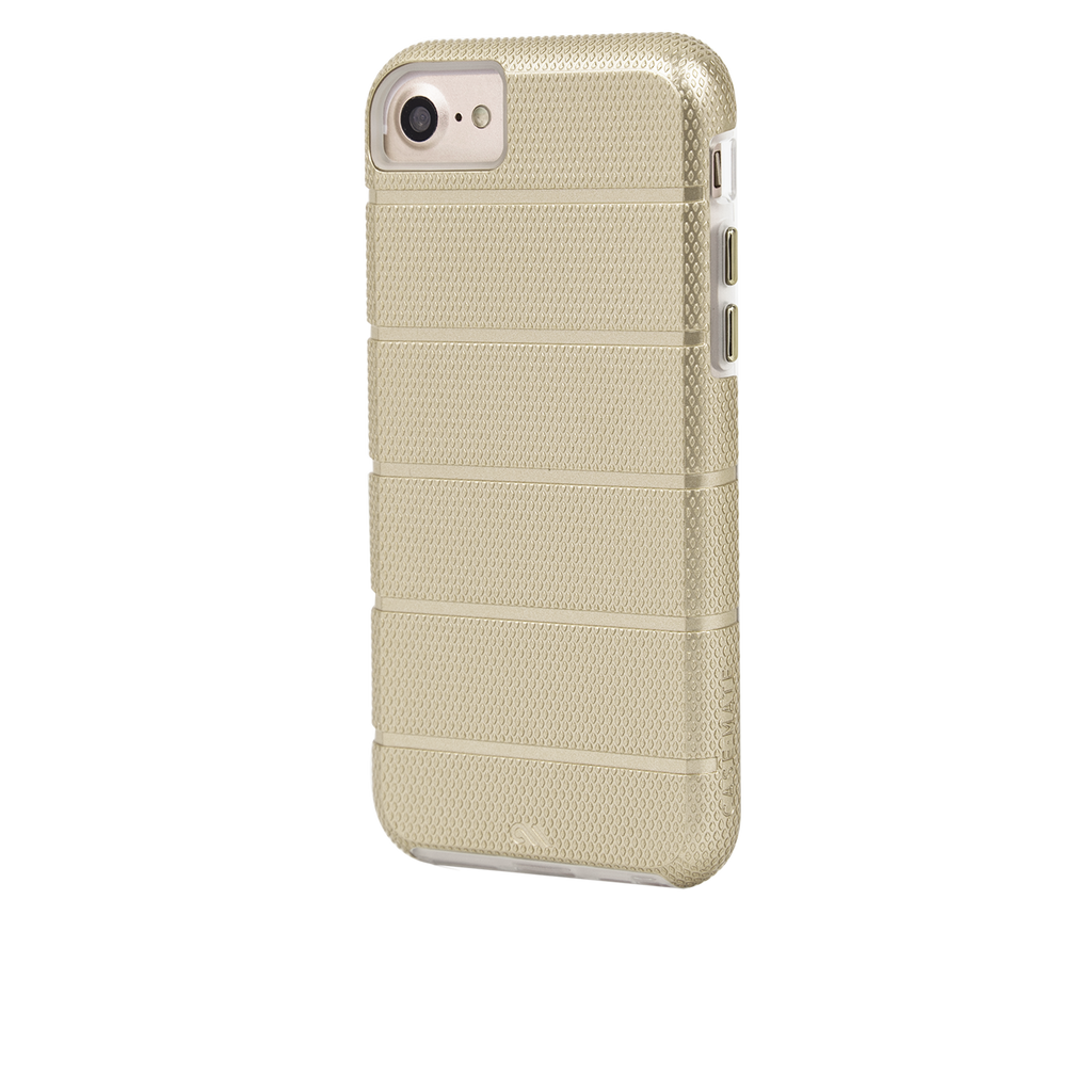 Gold Tough Mag iPhone 7 Case Back Left Angle