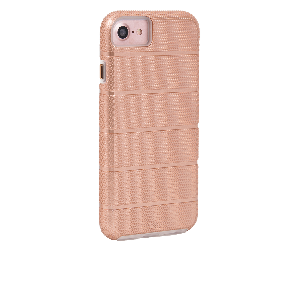 Rose Gold Tough Mag iPhone 7 Case Back Right Angle