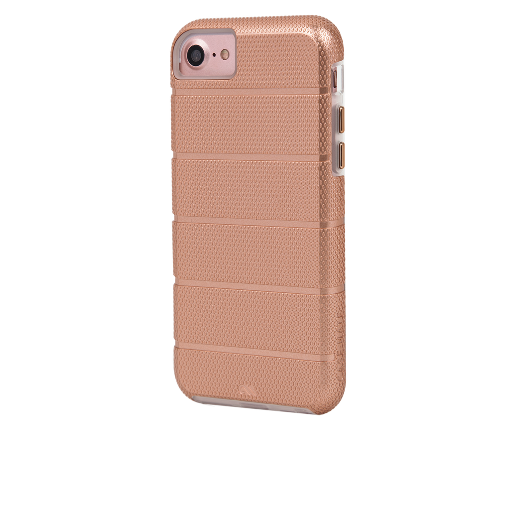 Rose Gold Tough Mag iPhone 7 Case Back Left Angle