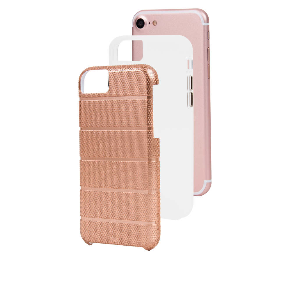 Rose Gold Tough Mag iPhone 7 Case Layers