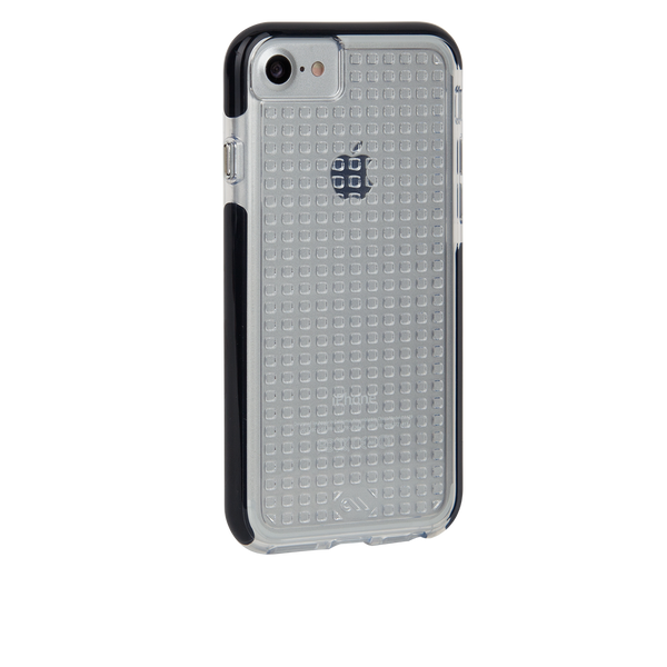 Clear And Black Tough Air iPhone 7 Case Back Right Angle