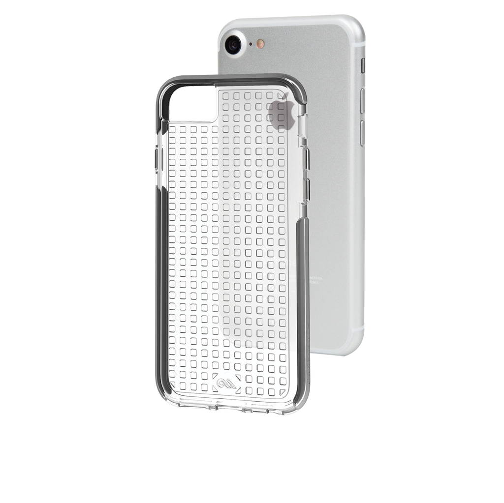 Clear And Black Tough Air iPhone 7 Case Back Layers