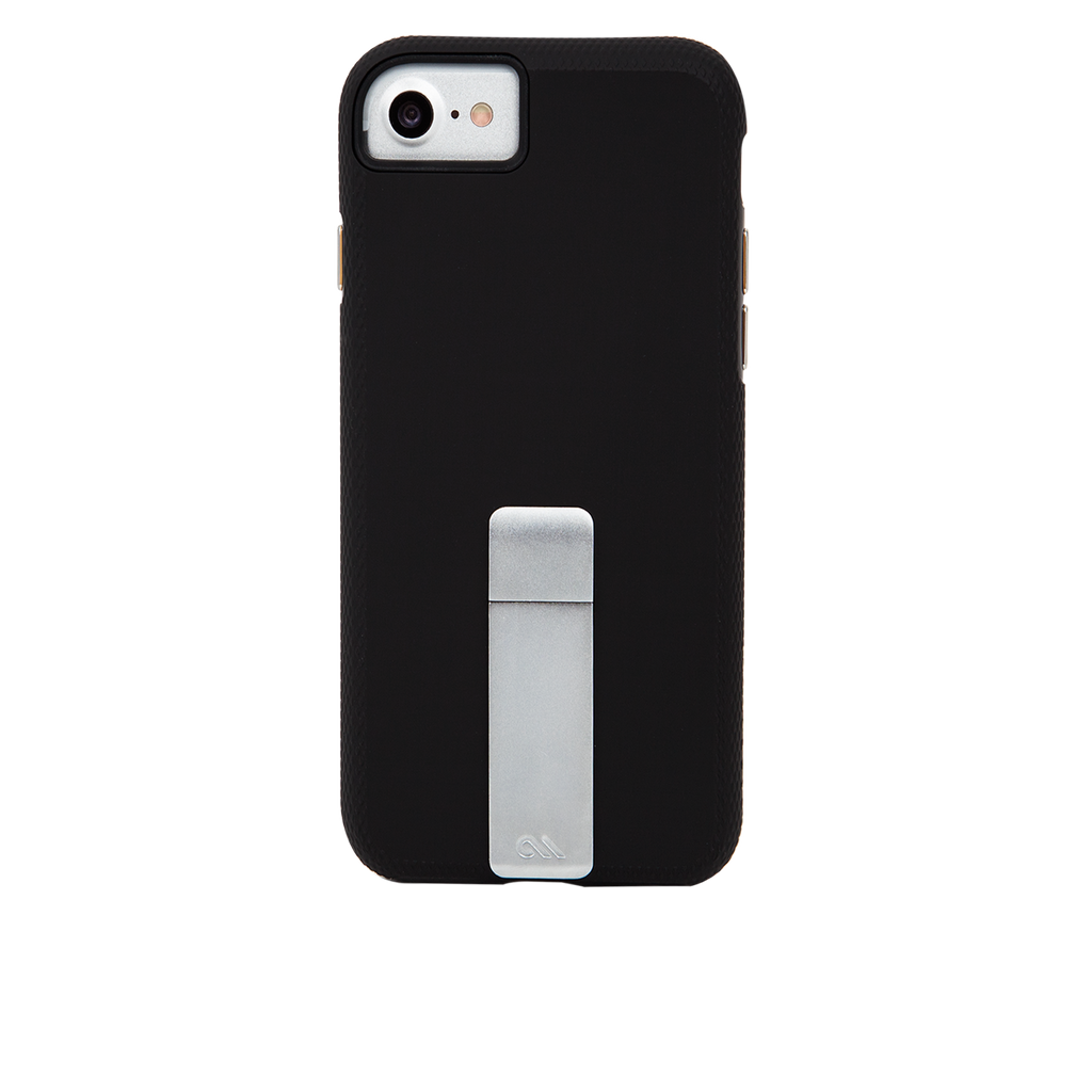 Black And Silver Tough Stand iPhone 7 Case Back