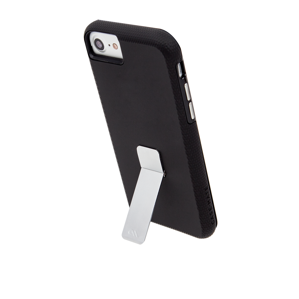 Black And Silver Tough Stand iPhone 7 Case Stand