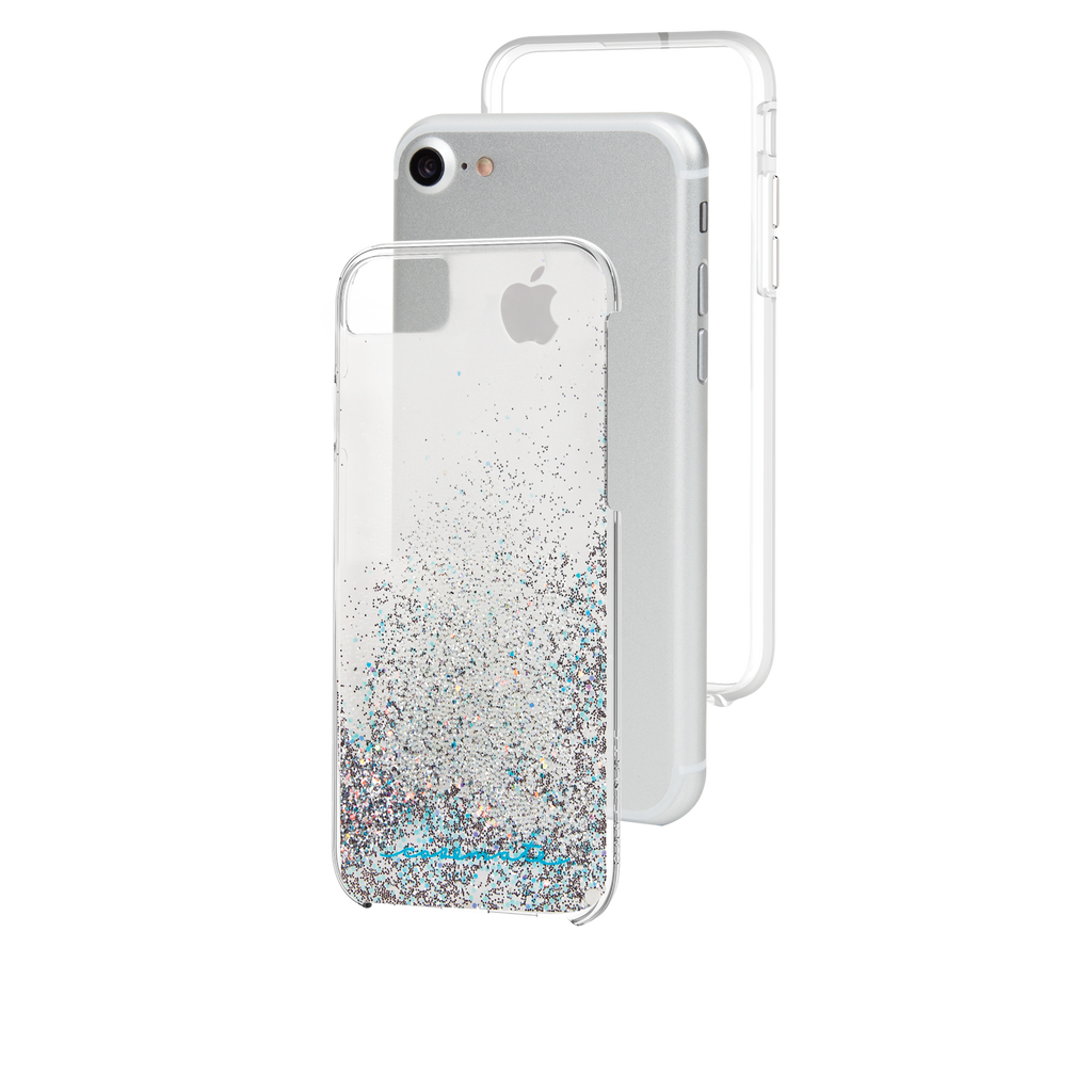 Iridescent Diamond Waterfall iPhone 7 Case Layers