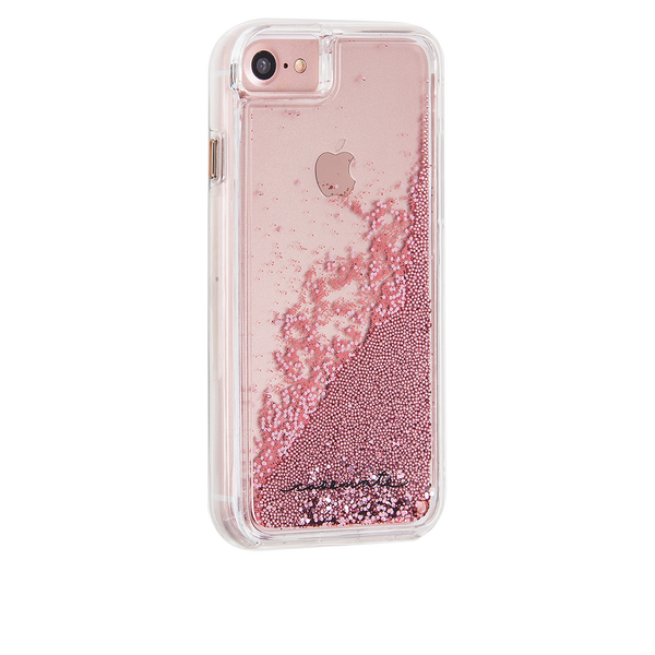 Rose Gold Waterfall iPhone 7 Case Back Right Angle