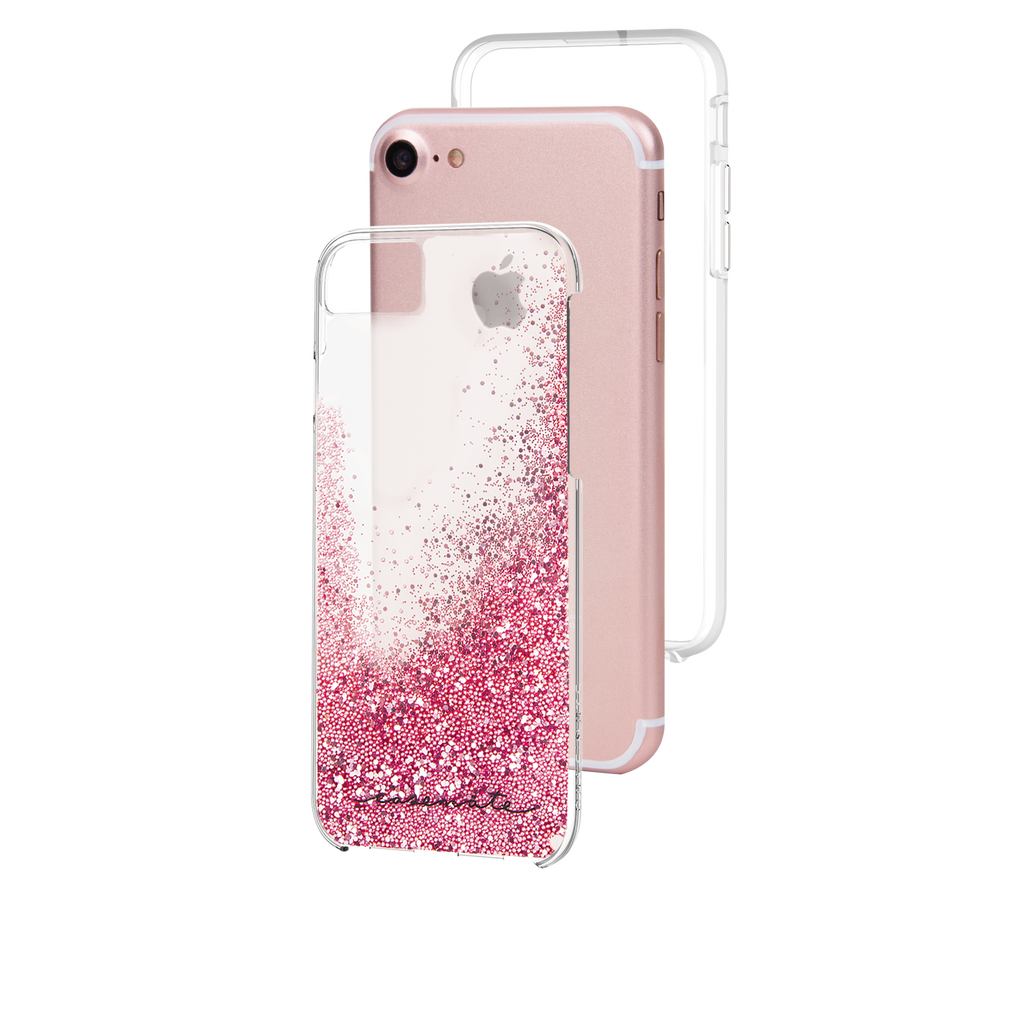 Rose Gold Waterfall iPhone 7 Case Layers