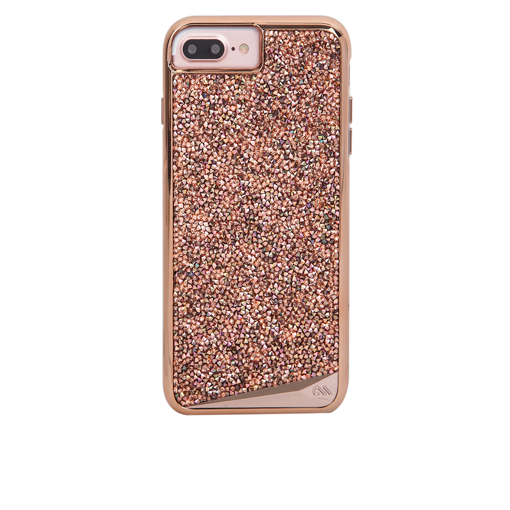 Rose Gold Brilliance iPhone 7 Plus Case Back