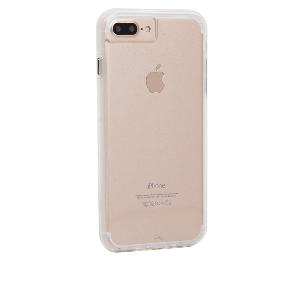 Naked Tough Clear iPhone 7 Plus Case Back Right Angle