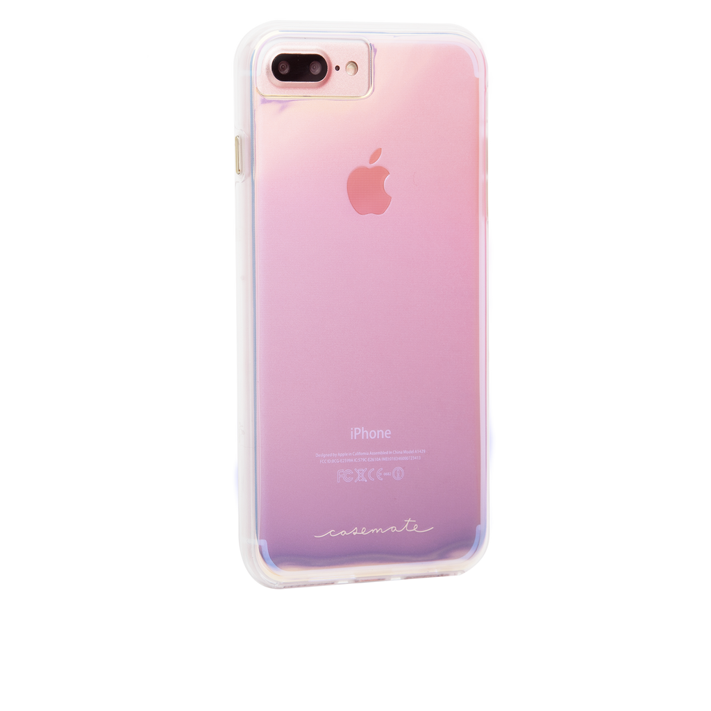 Naked Tough Iridescent iPhone 7 Plus Case Back Right Angle
