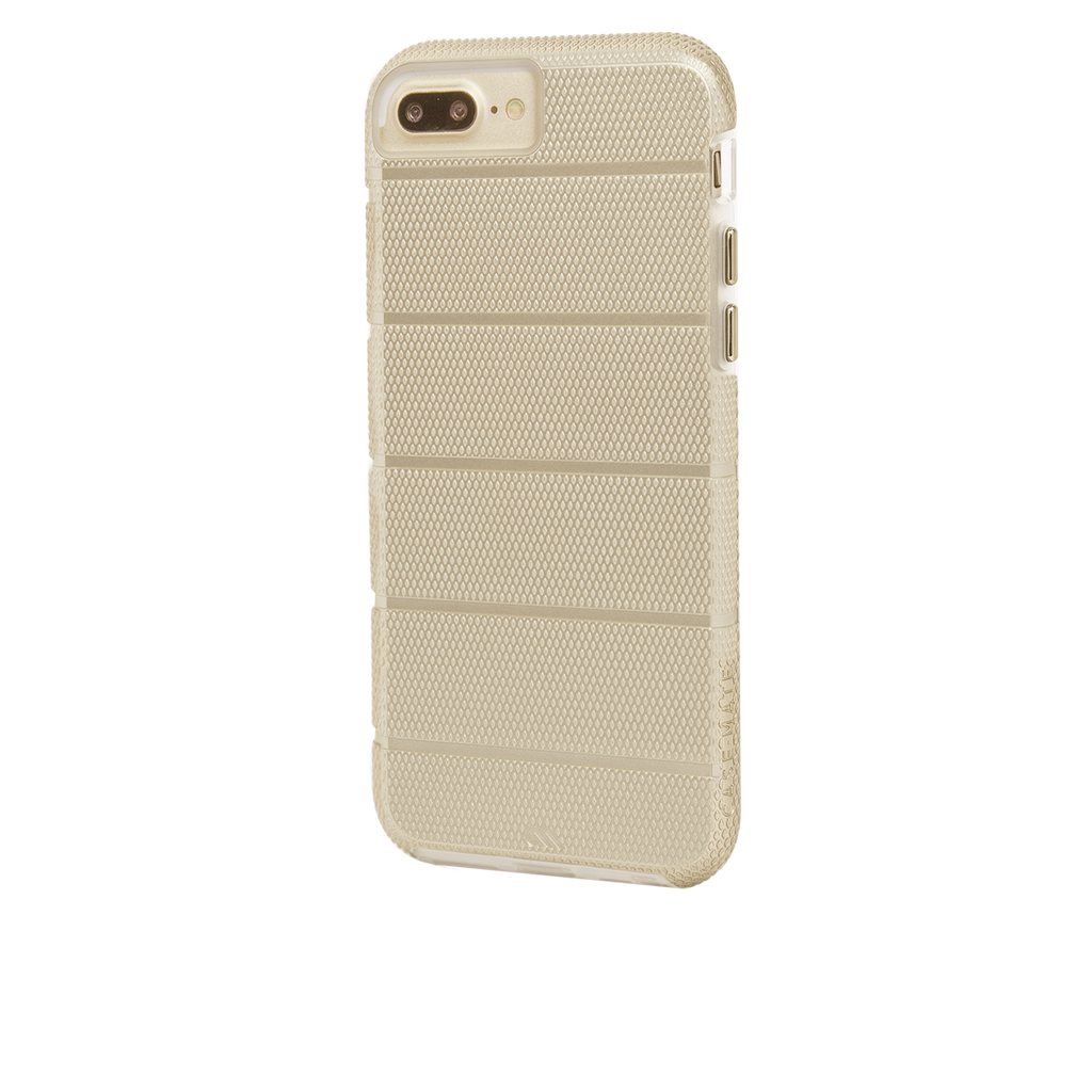 Gold Tough Mag iPhone 7 Plus Case Back Left Angle