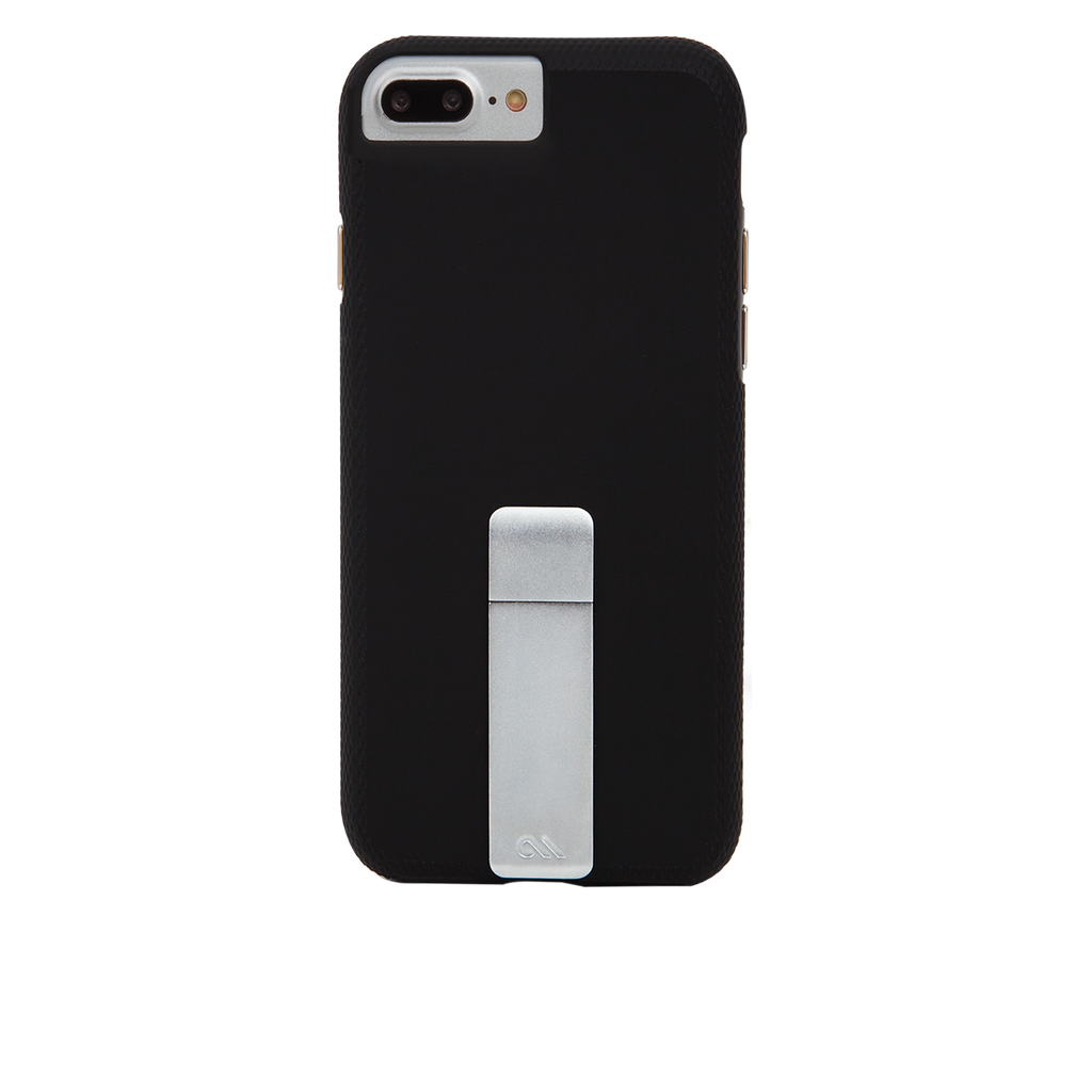 Black And Silver Tough Stand iPhone 7 PlusCase Back