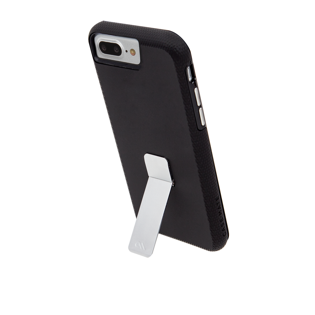 Black And Silver Tough Stand iPhone 7 Plus Case Stand