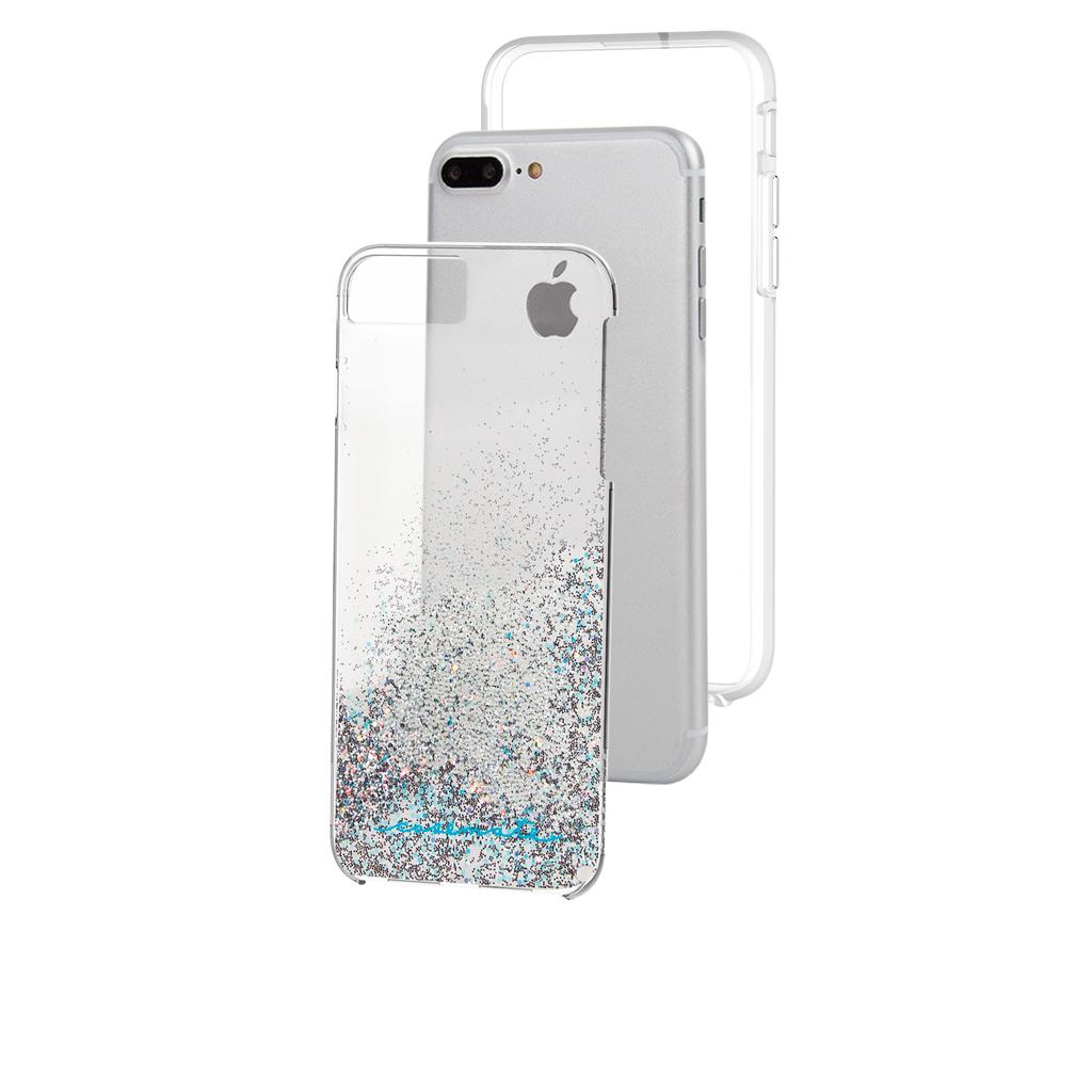 Iridescent Diamond Waterfall iPhone 7 Plus Case Layers