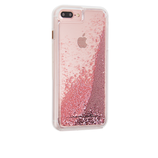 Rose Gold Waterfall iPhone 7 Plus Case Back Right Angle