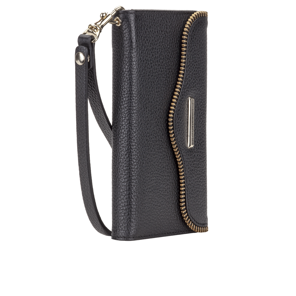Samsung Galaxy S6 Black Leather Folio Wristlet - image angle 1
