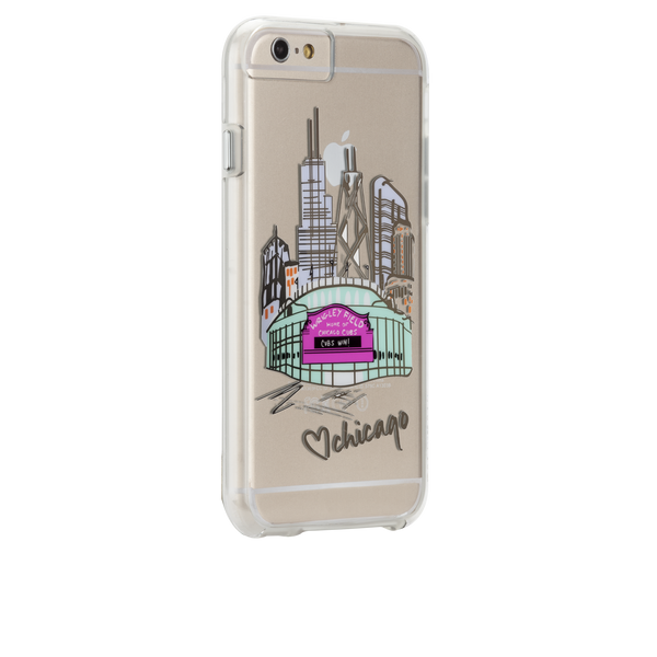 iPhone 6s Plus Clear Naked Tough City Prints - Chicago - Play Ball Case - image angle 1