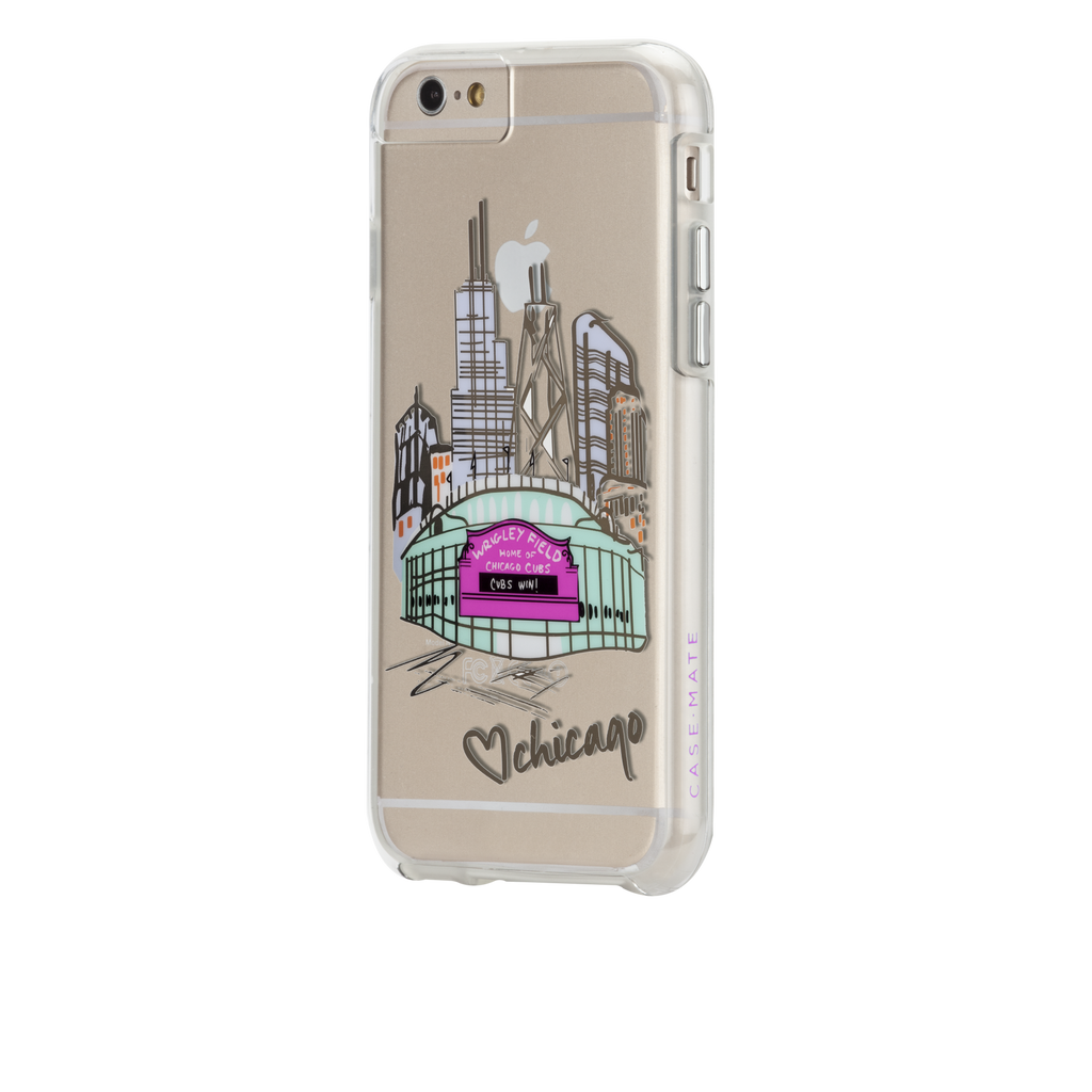iPhone 6s Plus Clear Naked Tough City Prints - Chicago - Play Ball Case - image angle 3