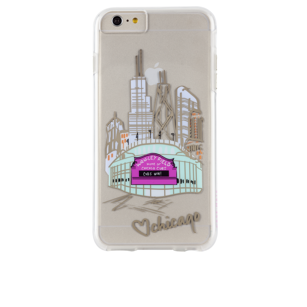 iPhone 6s Plus Clear Naked Tough City Prints - Chicago - Play Ball Case - image angle 7