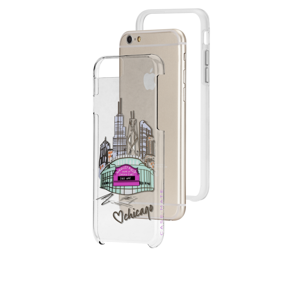 iPhone 6s Plus Clear Naked Tough City Prints - Chicago - Play Ball Case - image angle 8