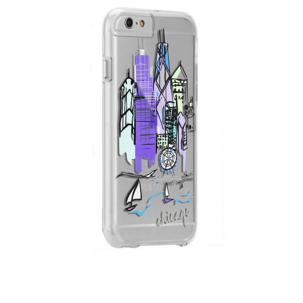 iPhone 6s Plus Clear Naked Tough City Prints - Chicago - Chicago Case - image angle 1