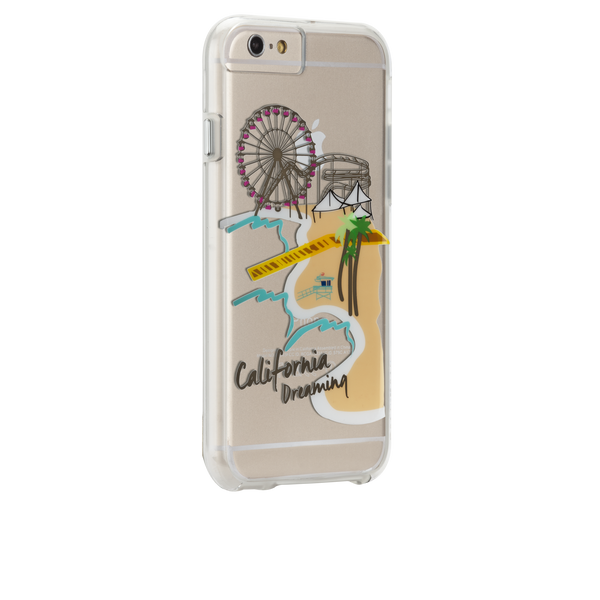iPhone 6s Plus Clear Naked Tough City Prints - Los Angeles - Santa Monica Case - image angle 1