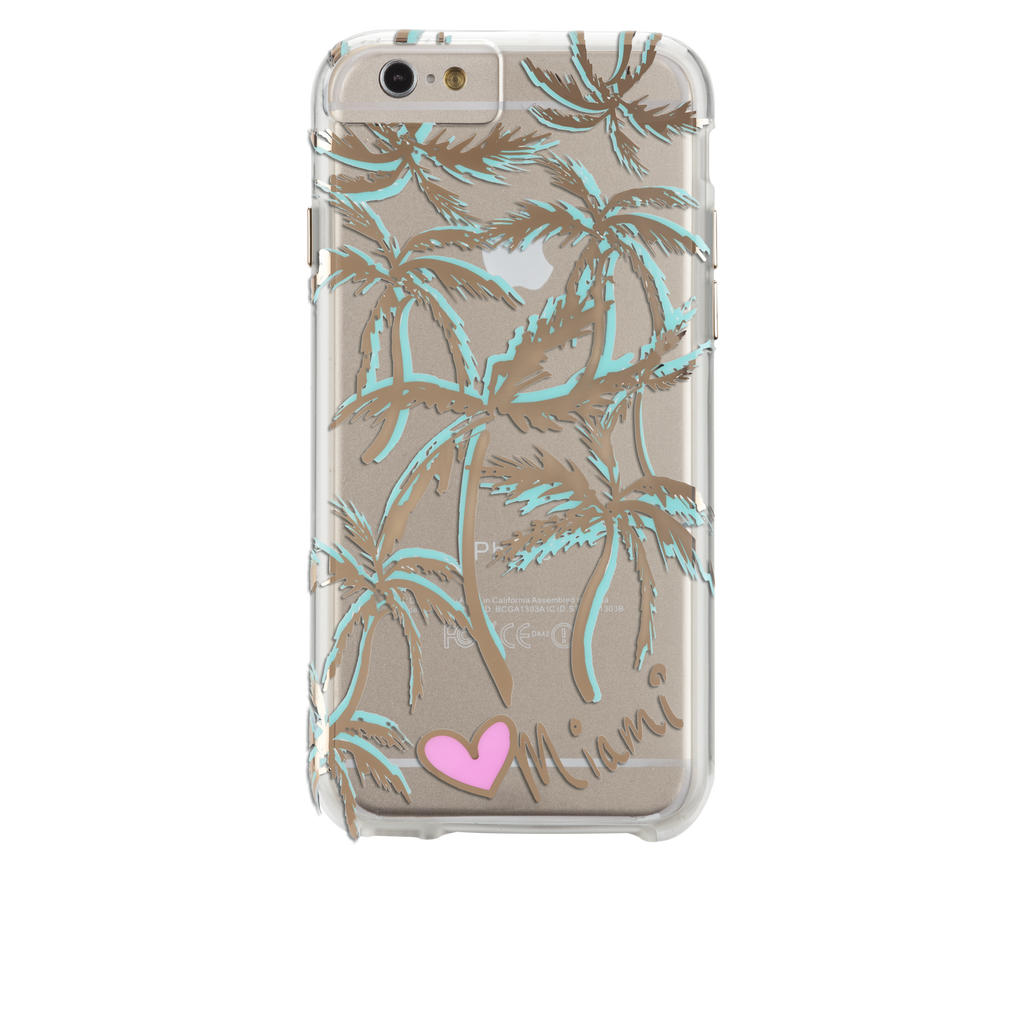 iPhone 6s Plus Clear Naked Tough City Prints - Miami - Palm Case - image angle 7