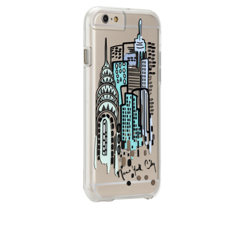iPhone 6s Plus Clear Naked Tough City Prints - New York - City View Case - image angle 1
